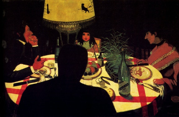 Félix Vallotton, The Dinner, Lamp Effect, 1899. Oil on canvas, 22 1/2 x 35 1/4 inches. Musée d'Orsay, Paris. © RMN-Grand Palais.
