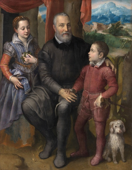 Sofonisba Anguissola, Family Portrait, c.1558. Oil on canvas. The Nivaagaard Collection, Niva (Denmark).