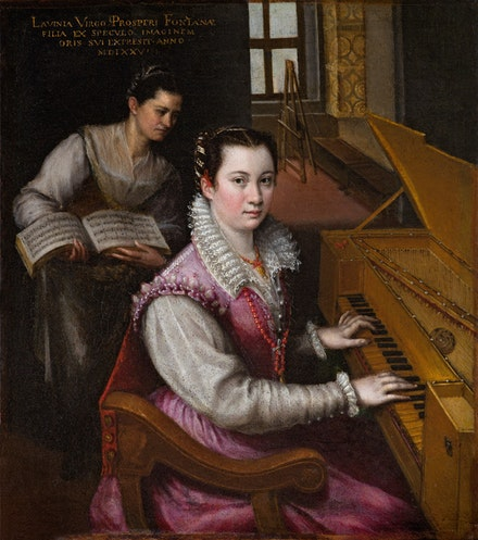 Lavinia Fontana, Self-Portrait at the Spinet, 1577. Oil on canvas. Accademia Nazionale di San Luca, Rome.