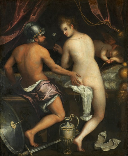 Lavinia Fontana, Mars and Venus, c.1595. Oil on canvas. Fundación Casa de Alba, Madrid.