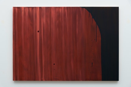 Mike Kelley, <em>Wood Grain #5</em>, 2003. Acrylic on wood panel, 42 x 60 inches. © Mike Kelley Foundation for the Arts. All Rights Reserved/VAGA at ARS, NY. Courtesy the Foundation and Hauser & Wirth.