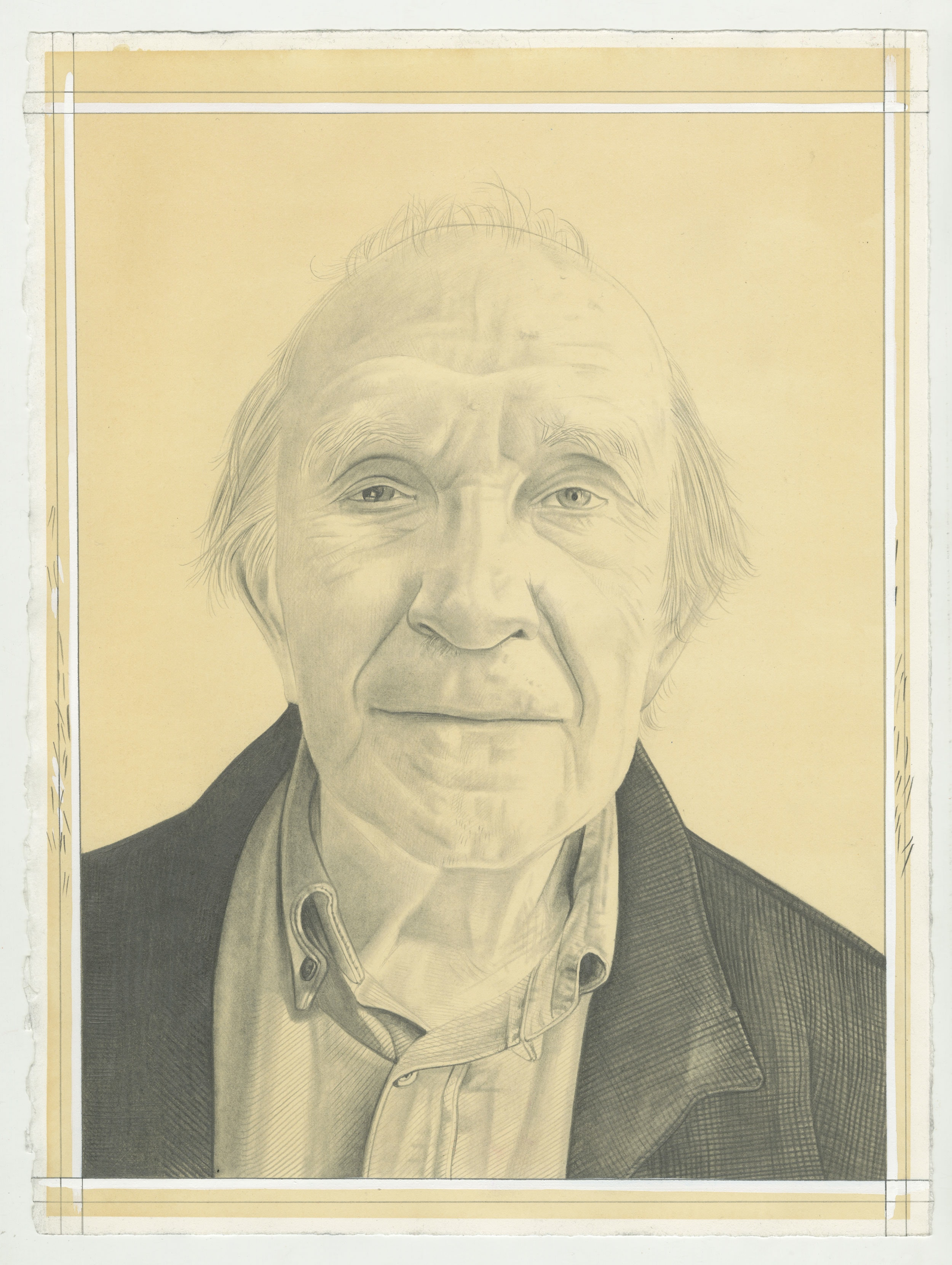 Michel Laclotte. Pencil on paper by Phong Bui.