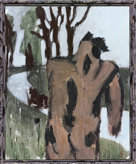 Markus Lüpertz, <em>Träumer</em>, 2014. Mixed media on canvas, 78 3/4 x 63 3/4 inches. Private Collection. © VG Bild-Kunst, Bonn 2019.