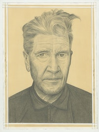 Portrait of David Lynch. Pencil on paper by Phong Bui.