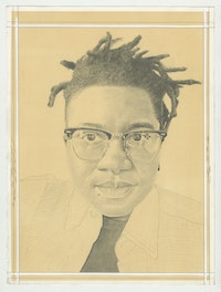 Tiona Nekkia McClodden. Pencil on paper by Phong Bui.