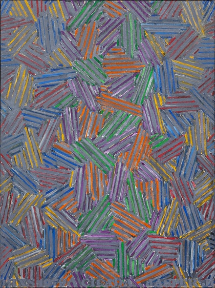 Jasper Johns, <em>Cicada</em>, 1979. Oil on canvas, 30 x 22 1/2 inches. Collection of Jasper Johns.