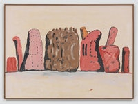 Philip Guston, <em>Untitled</em>, 1971. Oil on paper mounted on panel, 29 x 40 inches. © The Estate of Philip Guston. Courtesy the Estate and Hauser & Wirth. Photo: Genevieve Hanson.