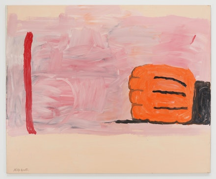 Philip Guston, <em>Hand and Stick</em>, 1971. Oil on canvas, 65 5/8 x 79 5/8 inches. © The Estate of Philip Guston. Courtesy the Estate and Hauser & Wirth. Photo: Thomas Barratt.