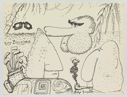 Philip Guston, <em>Untitled</em>, 1971. Ink on paper, 10 1/2 x 13 7/8 inches. © The Estate of Philip Guston. Courtesy the Estate and Hauser & Wirth. Photo: Genevieve Hanson.