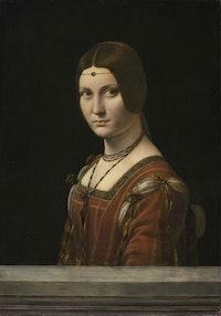 Léonardo da Vinci, <em>La Belle Ferronnière</em>, c.1495. © RMN-Grand Palais (musée du Louvre) / Michel Urtado.