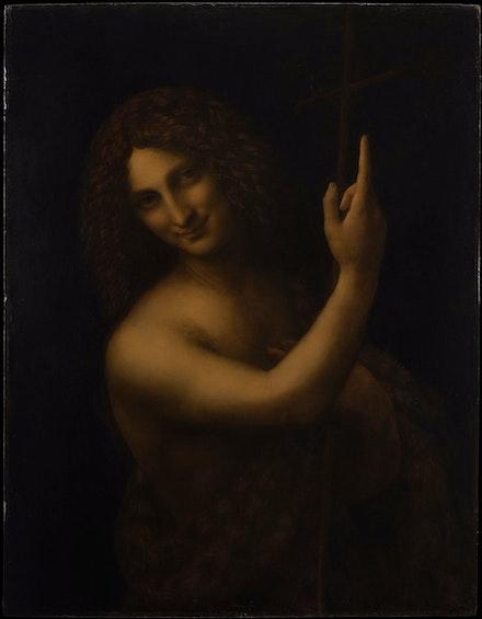 Léonardo da Vinci, <em>Saint John the Baptist</em>, c.1515. © RMN-Grand Palais (musée du Louvre) / Michel Urtado.
