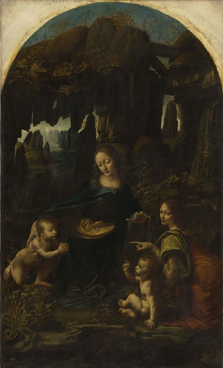 Léonardo da Vinci, <em>Virgin of the Rocks</em>, c.1486. © RMN-Grand Palais (musée du Louvre) / Michel Urtado.