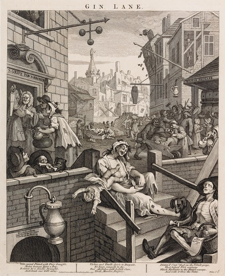 William Hogarth, <em>Gin Lane</em>, 1751. Etching and Engraving. © Andrew Edmunds, London.