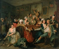 William Hogarth, <em>A Rake's Progress, 3: The Orgy</em>, 1734. Oil on canvas. © The Trustees of Sir John Soane's Museum.