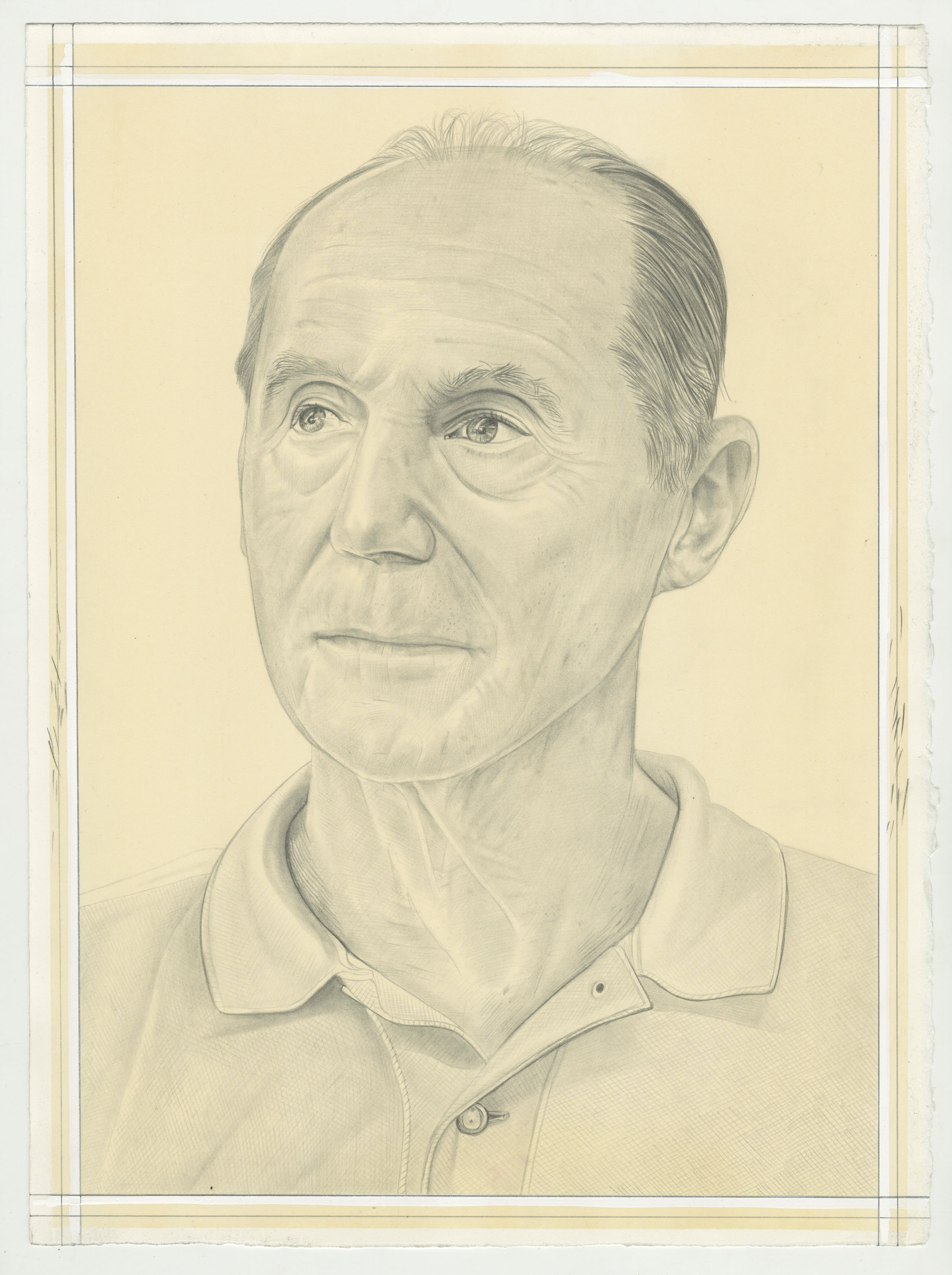 Bill Goldston. Pencil on Paper by Phong Bui.