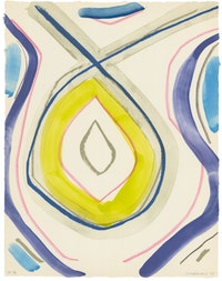Marina Adams, <em>Untitled 3</em>, 2018. Lithograph in 8 colors on Japanese paper, 22 1/2 x 17 1/2 inches. Courtesy ULAE.