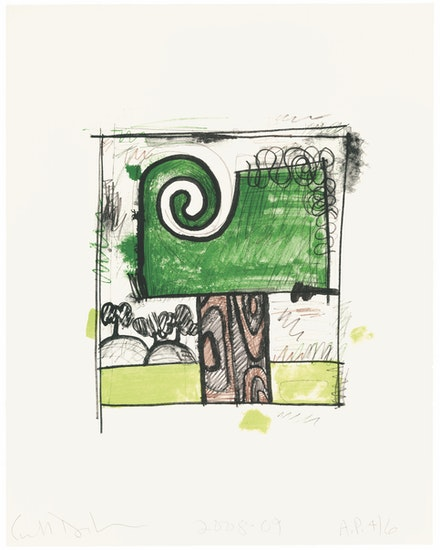 Carroll Dunham, <em>Tree 1</em>, 2009. Lithograph in 7 colors on Arches Cover White paper, 25 1/2 x 20 1/8 inches. Courtesy ULAE.