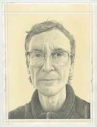 Richard Hughes. Pencil on Paper by Phong Bui.