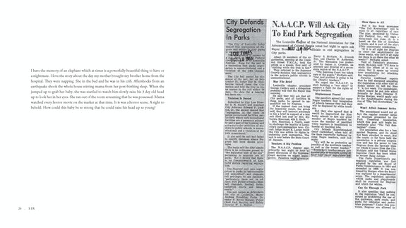 Newspaper clippings from <em>The Courier Journal</em>, May 19, 1954, and <em>The Louisville Times</em>, October 10, 1955. Source from Main Louisville Public Library.