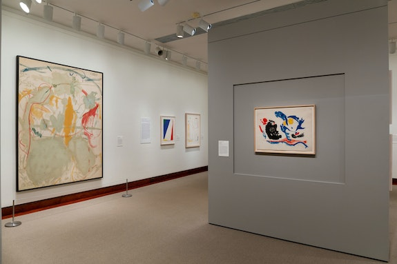 Exhibition View: <em>Helen Frankenthaler Prints: Seven Types of Ambiguity</em>. Courtesy The Art Museum, Princeton University.