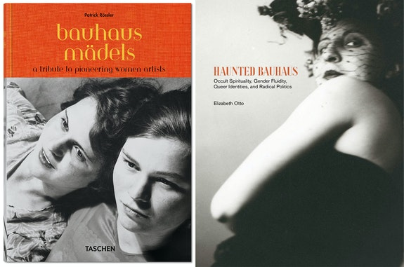 <p>Left: Patrick Rössler, <em>Bauhausmädels: A Tribute to Pioneering Women Artists</em> (Taschen, 2019) </p><p>Right: Elizabeth Otto, <em>Haunted Bauhaus: Occult Spirituality, Gender Fluidity, Queer Identities, and Radical Politics </em> (MIT, 2019)</p>