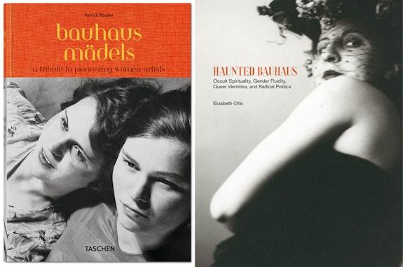 <p>Left: Patrick Rössler, <em>Bauhausmädels: A Tribute to Pioneering Women Artists</em> (Taschen, 2019) </p><p>Right: Elizabeth Otto, <em>Haunted Bauhaus: Occult Spirituality, Gender Fluidity, Queer Identities, and Radical Politics </em> (MIT, 2019)</p>