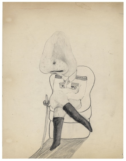 David Lynch, Untitled, 1971. Pencil on paper, 11 x 8 1/2 inches. Courtesy the artist.