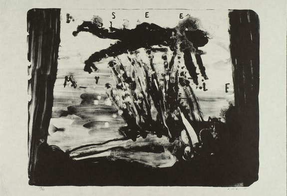 David Lynch, <em>I See Myself</em>, 2007. Lithograph on Japanese paper, 26 x 34 inches. Item Editions, Paris. Courtesy the artist.