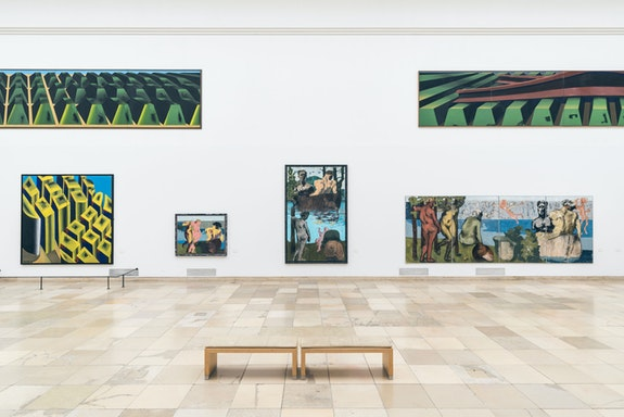 Installation view: <em>Markus Lüpertz: Toward the Image through Art</em>, Haus der Kunst, Munich, 2019. © VG Bild-Kunst, Bonn 2019.