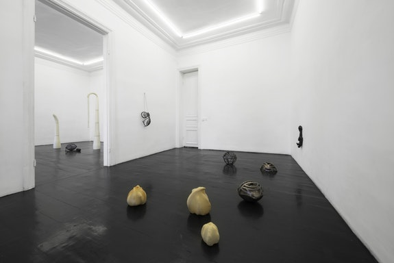Installation view, Hanna-Maria Hammari, <em>lie in wait</em>, 2019, LC Queisser, Tbilisi, Courtesy of the artist and LC Queisser. Credits: Angus Leadley Brown