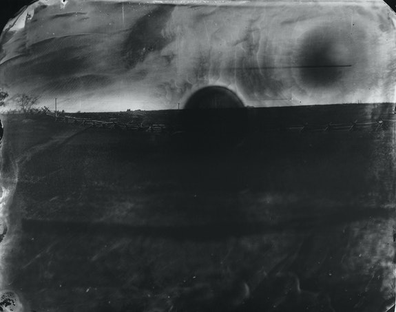 Sally Mann, <em>Battlefields, Antietam (Black Sun)</em>, 2001. Gelatin silver print. Courtesy Edwynn Houk Gallery, New York. © Sally Mann.