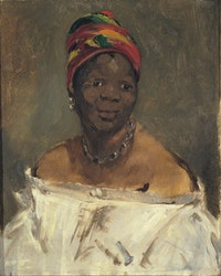 Édouard Manet, <em>La négresse (Portrait of Laure)</em>, 1862–63. Oil on canvas, 24 x 19 11/16 inches. Collection Pinacoteca Giovanni e Marella Agnelli, Turin. Photo: Andrea Guerman, © Pinacoteca Giovanni e Marella Agnelli, Turin.