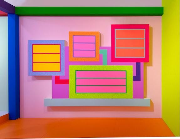 Installation view: <em>Peter Halley: Heterotopia II</em>, Greene Naftali, New York, 2019. Courtesy the artist and Greene Naftali, New York.