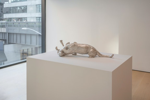 Installation view: <em>Three Christs, Sleeping Mime, and the Last Supper and Pagan Paradise: Charles Ray and the Hill Collection</em>, Hill Art Foundation, 2019. Courtesy the artist and Matthew Marks Gallery. © Charles Ray. Photo: Charles Ray.