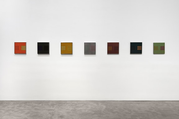 Installation view, <em>John Chamberlain & Donald Judd</em>, Paula Cooper Gallery, 524 W 26th Street, New York, NY, November 2 - December 14, 2019. Photo: Steven Probert.