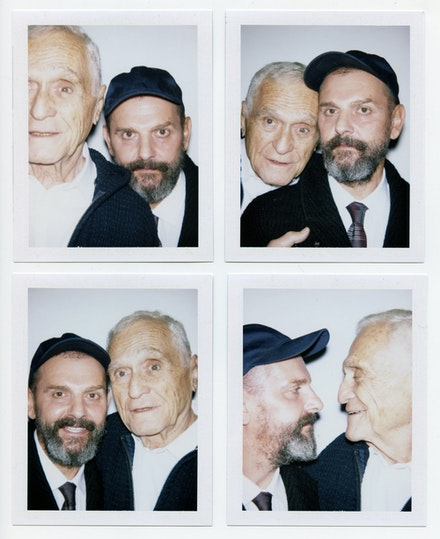 Ugo Rondinone and John Giorno. Photo:  Lucas Michael.
