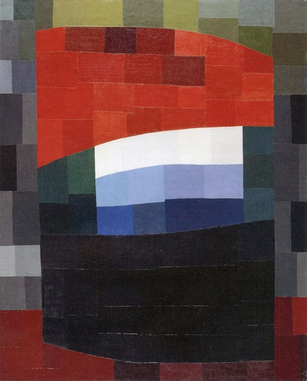 Otto Freundlich, <em>Mein roter Himmel</em>, 1933, oil on canvas, 63 x 51 in. Photo: Til Niermann. Courtesy wikimedia commons.
