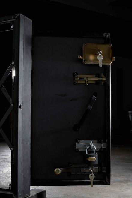 Lawrence Abu Hamdan, <em>Earwitness Inventory</em>, detail, 2018. 95 sourced and custom-designed objects/ instruments, and an animated text. Photo: Andy Keate © Lawrence Abu Hamdan, courtesy Maureen Paley, London