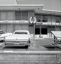 Jonathan Calm, <em>Green Book (Lorraine Motel I)</em>, 2016. Gelatin Silver Print, 12 X 12 in. Courtesy of Rena Bransten Gallery in San Francisco