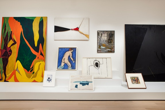 Installation view: Artist's Choice: Amy Sillman--The Shape of Shape, The Museum of Modern Art, New York, 2019-20. © 2019 The Museum of Modern Art. Photo: Heidi Bohnenkamp.