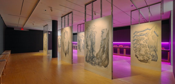 Installation view: Marlene McCarty: Into the Weeds, UB Art Gallery, Center for the Arts, Buffalo, NY. Courtesy UB Art Galleries. Photo: Biff Henrich, IMG_INK.
