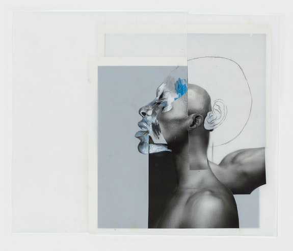 <em>Ernesto</em>, 2019, cut-and-pasted printed paper, charcoal, graphite, and color pencil on Yupo paper, 14 1/4 x 16 3/4 in. Courtesy of David Nolan Gallery and Wardell Milan.