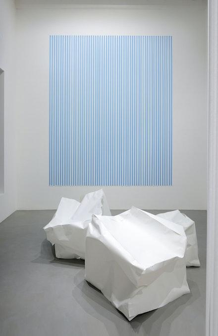 Thomas Kovachevich, Installation View, <em>Portrait of a Room</em>. Galleria Poggiali, Milano, 2019. Photo by Michele Sereni