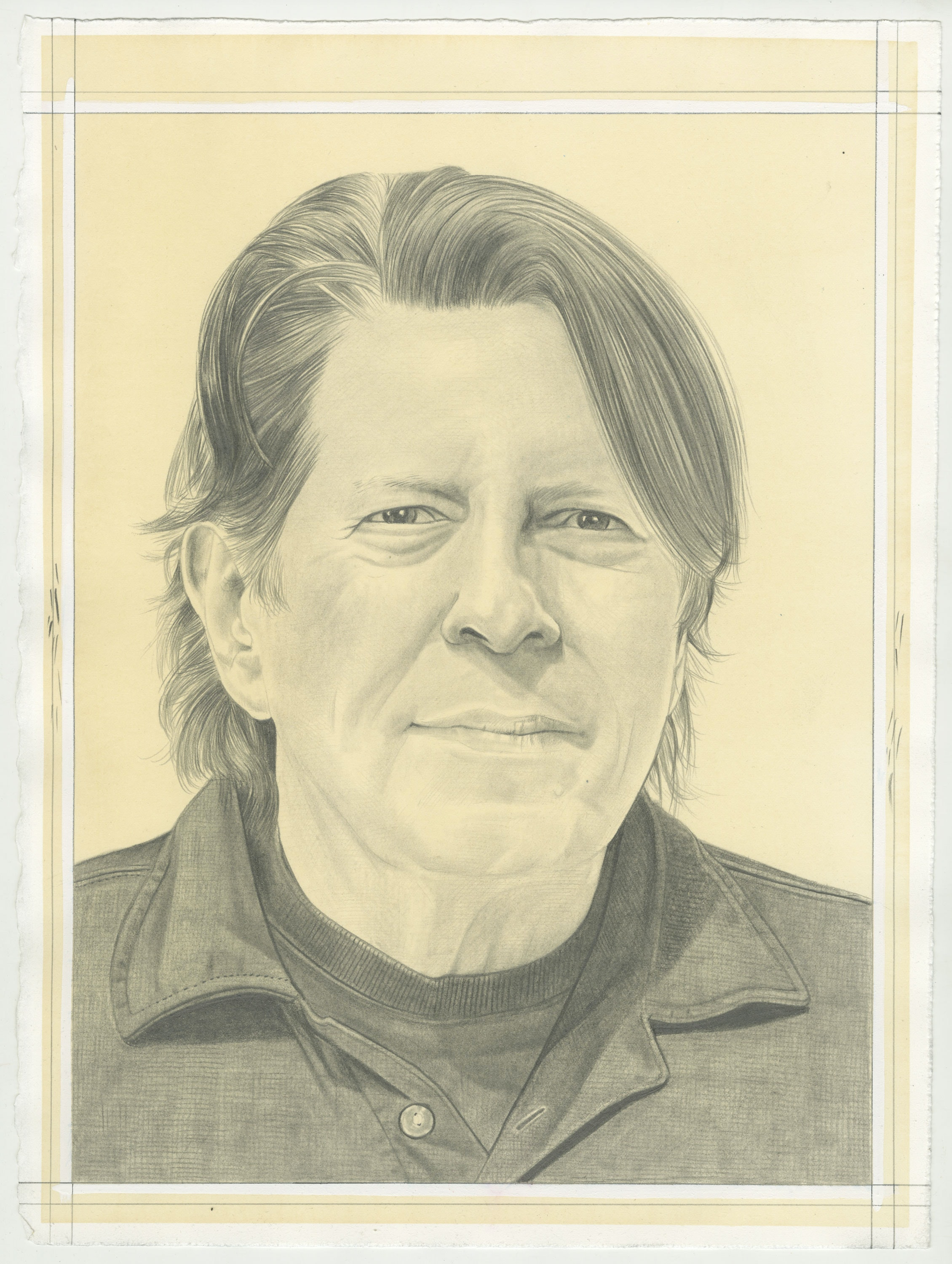 Portrait of Thomas Kovachevich, pencil on paper by Phong H. Bui