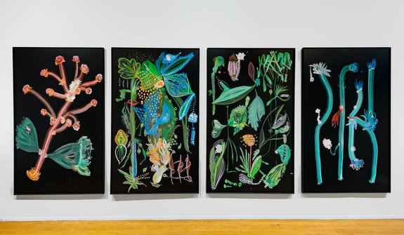 Thomas Kovachevich, <em>Studio Installation</em>, 2019. Photo Adam Reich Courtesy of Callicoon Fine Arts, New York