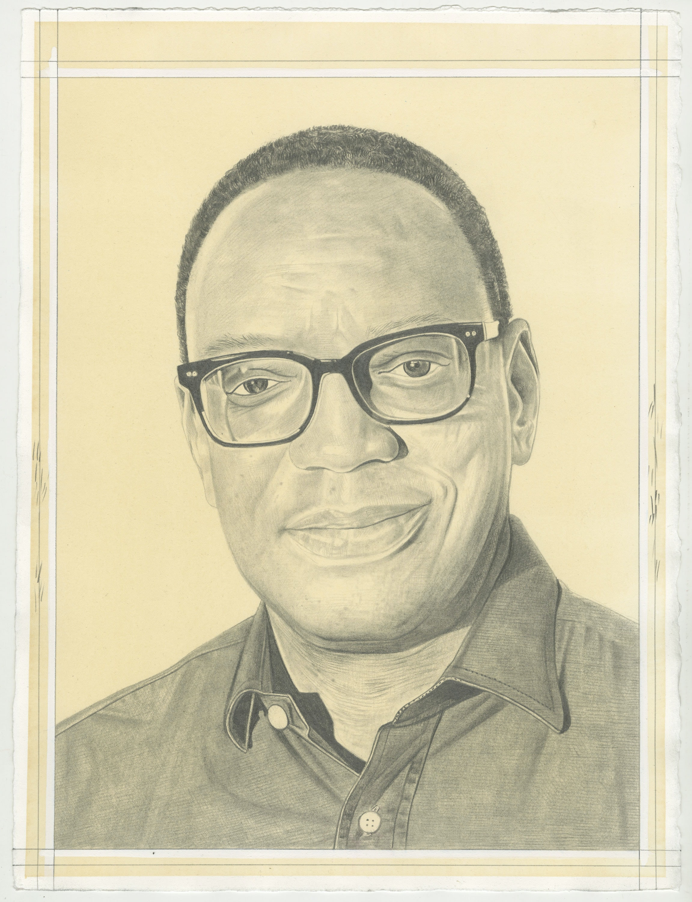 Portrait of Alvin Hall. Pencil on paper by Phong H. Bui