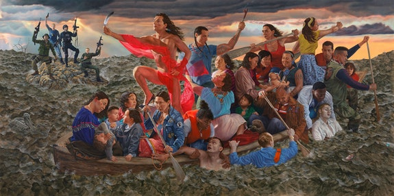 Kent Monkman, Resurgence of the People, 2019. Acrylic on Canvas, 132 x 264 inches. Photo: Joseph Hartman.