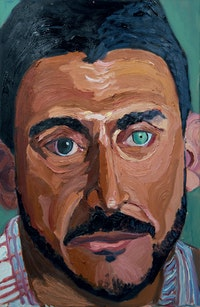 George W. Bush, Sergeant First Class Michael R. Rodriguez, U.S. Army, 1992 - 2013. Oil on canvas, 36 x 24 inches. Courtesy the George W. Bush Presidential Center, Dallas, TX.