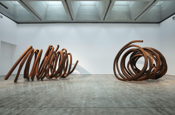 Installation view: Bernar Venet: Indeterminate Hypothesis, Kasmin Gallery, New York, 2019. © Bernar Venet. 2020 Artists Rights Society (ARS), New York / ADAGP, Paris. Courtesy Kasmin Gallery.