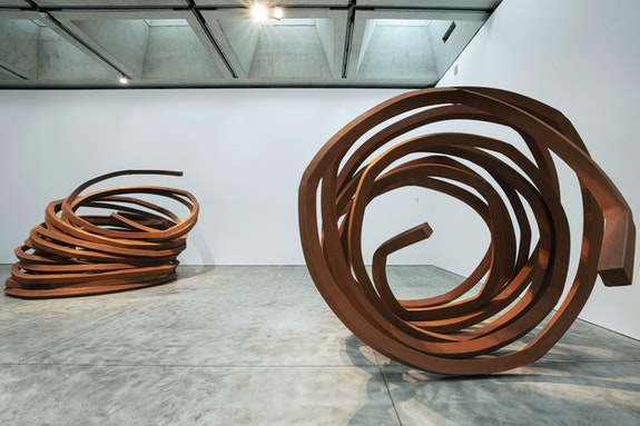 Installation view: <em>Bernar Venet: Indeterminate Hypothesis</em>, Kasmin Gallery, New York, 2019. © Bernar Venet. 2020 Artists Rights Society (ARS), New York / ADAGP, Paris. Courtesy Kasmin Gallery.